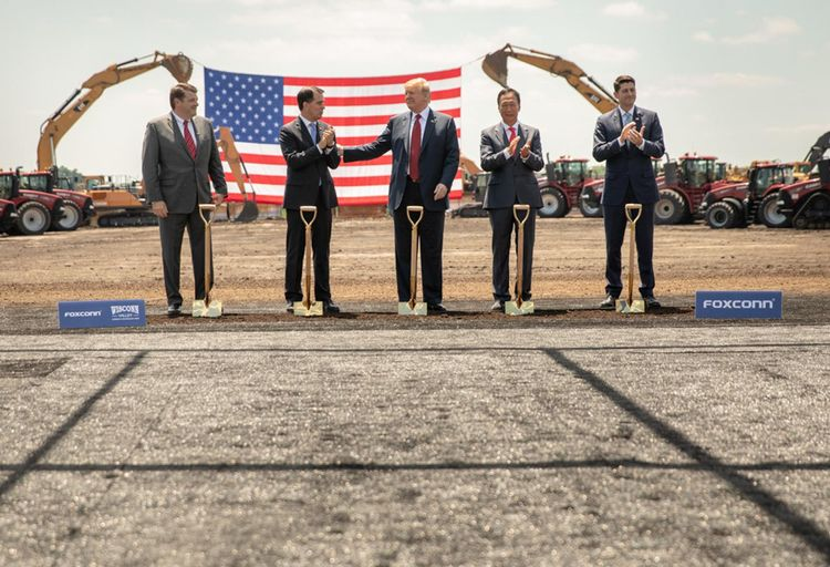 Foxconn's Wisconsin Plans Shrunk From Factories To Coworking To Storage