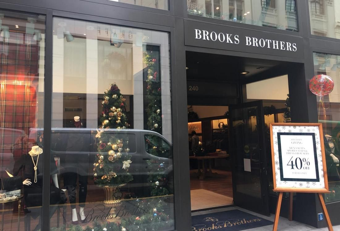 Simon, Partner Make $305M Bid For Brooks Brothers