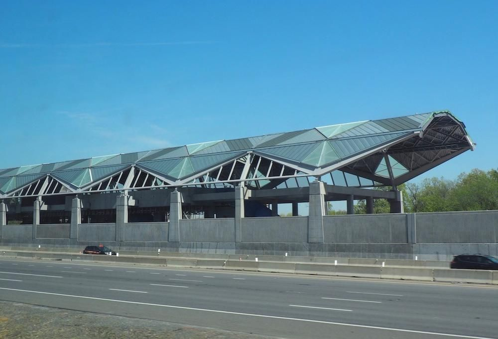 The under-construction Innovation Center Silver Line station, photographed in May 2018.