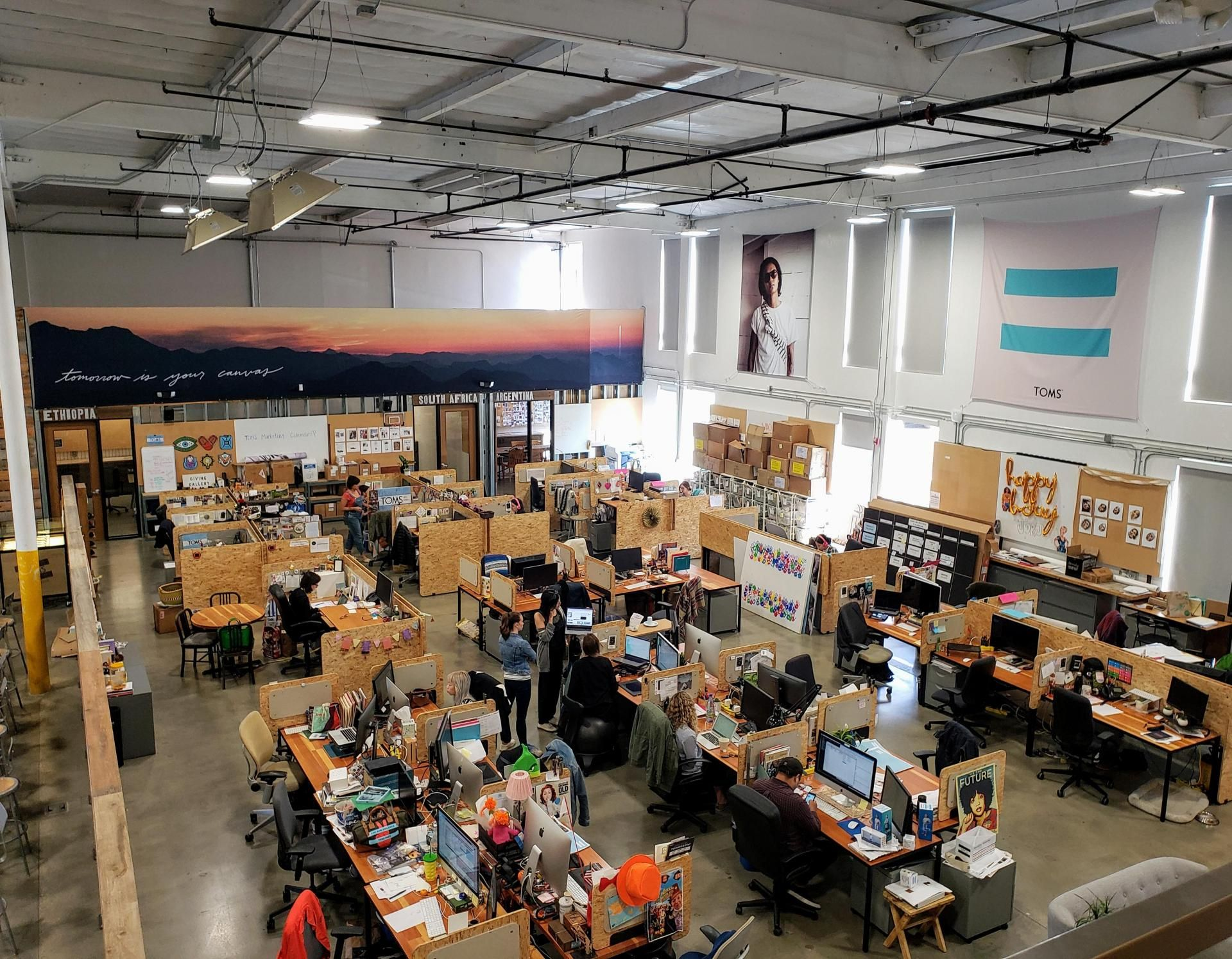 TOMS' headquarters in Playa Vista