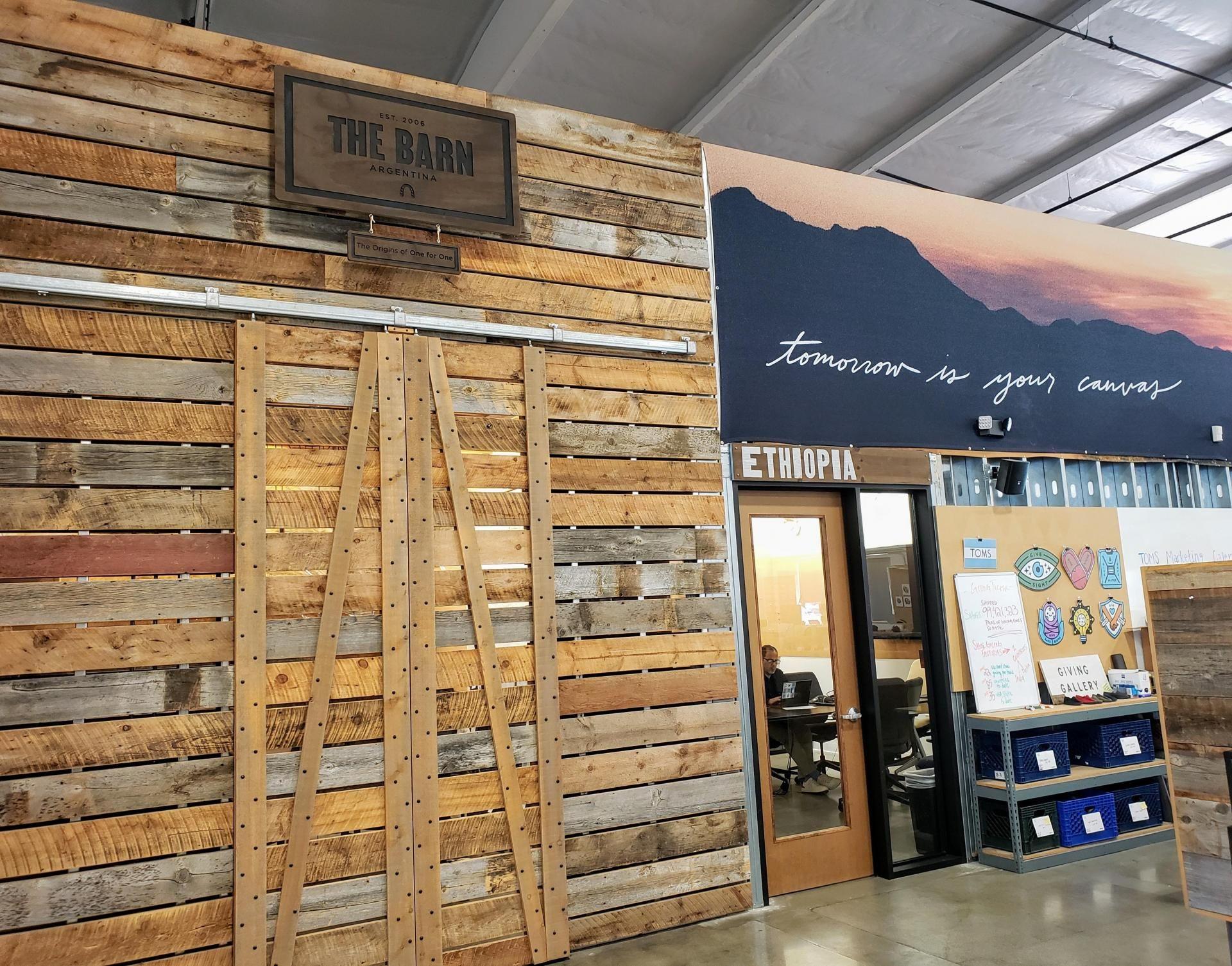 Toms creative office in Playa Vista