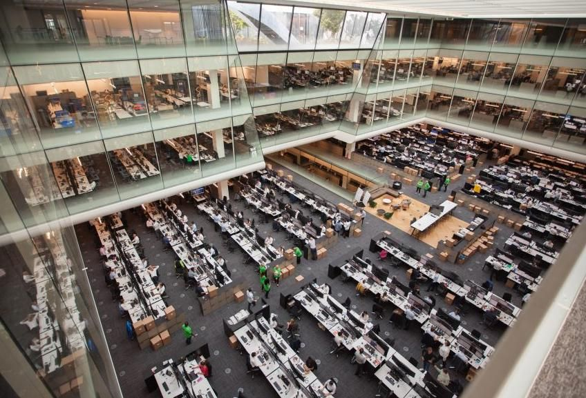 The World's Biggest Banks Embrace A New Breed Of Offices